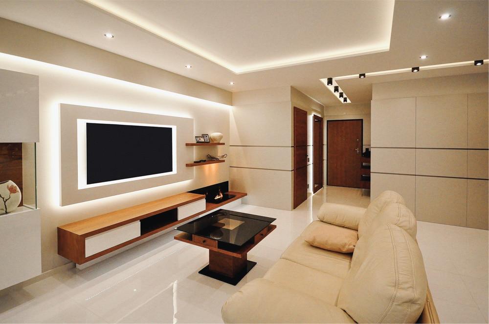 Aranżacja Mieszkania #6, stworzona i wykonana przez warsztat Don't Worry, tworzący aranżację wnętrz oraz wykonujący meble na zamówienie.
