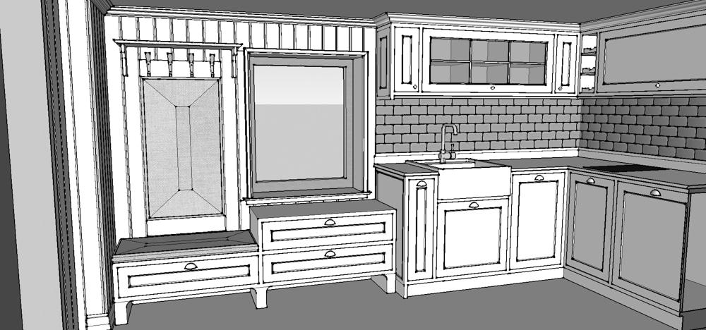 Aranżacja Kuchnia #21, stworzona i wykonana przez warsztat Don't Worry, tworzący aranżację wnętrz oraz wykonujący meble na zamówienie.